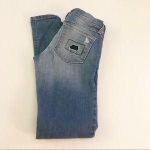 Flying Monkey Platinum Distress  Skinny Jeans